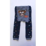 Calça de lã infantil bebe ursinho estilo meia calça cinza