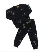 Conjunto de Bebe Unissex Estrela Preta