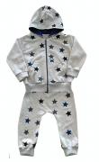 Conjunto de Bebê Unissex Moletom Estrela com Capuz e Zíper