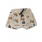 Shorts de Bebê Oncinha Unissex Moletinho