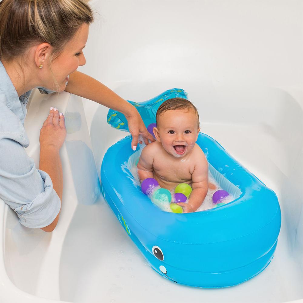 Banheira Baleia Infantil inflavel Infantino
