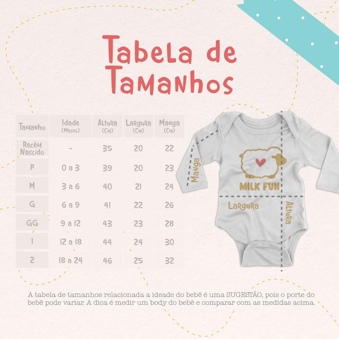 Body Bebê Algodão Infantil Basic BRANCO