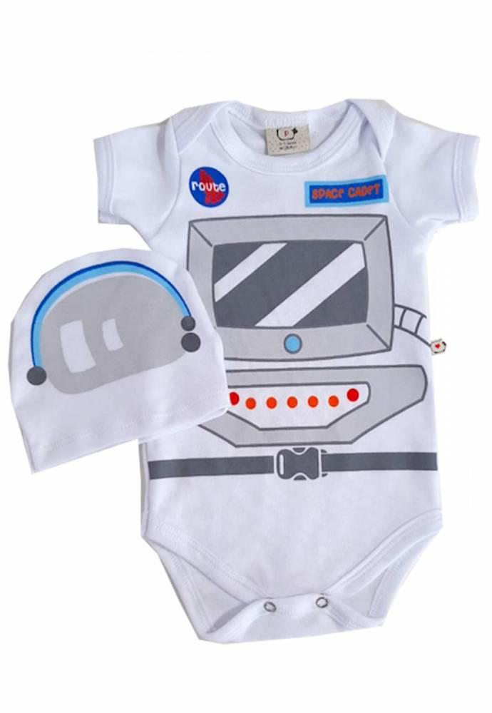 Body Bebê Infantil Astronauta Com touca