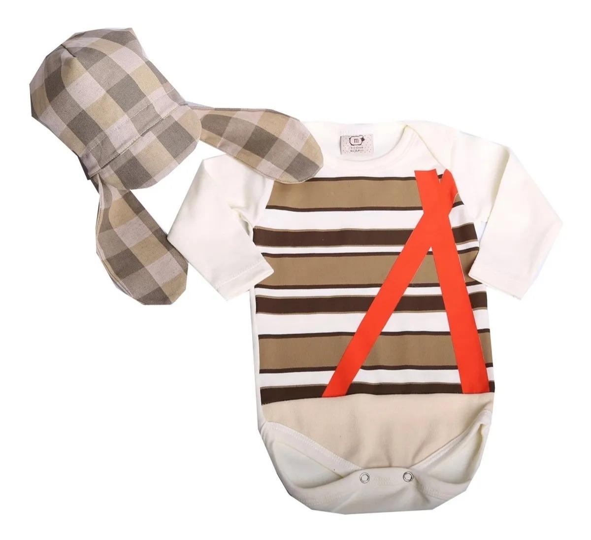 Body Bebê Infantil Chaves com touca