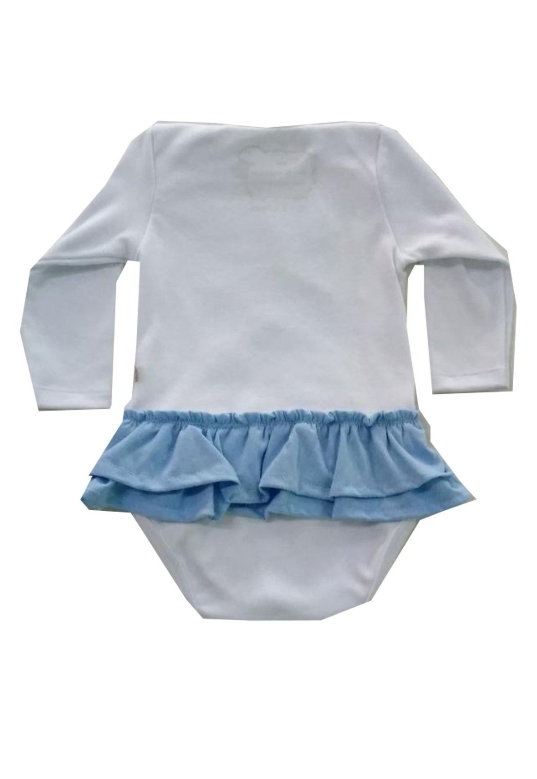 Body de Bebê Infantil Cinderela com saia e lacinho