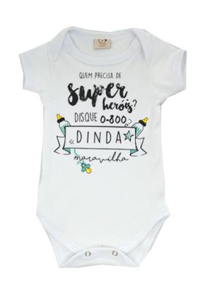 Body Bebê Infantil Dinda Maravilha