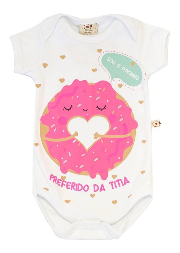 Body Bebê Infantil Docinho da titia