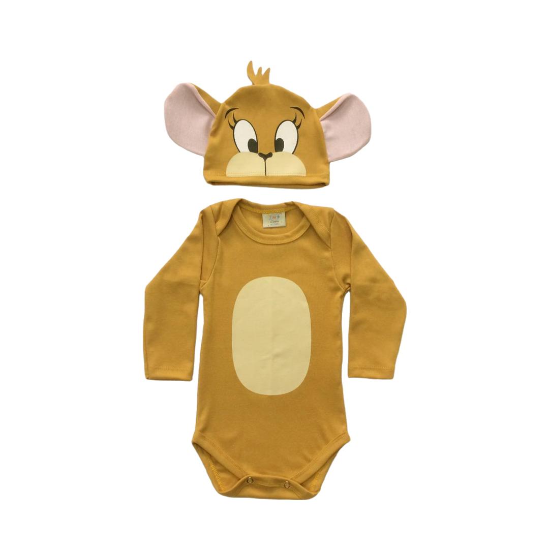 Body de Bebê Infantil personagem Jerry mesversario