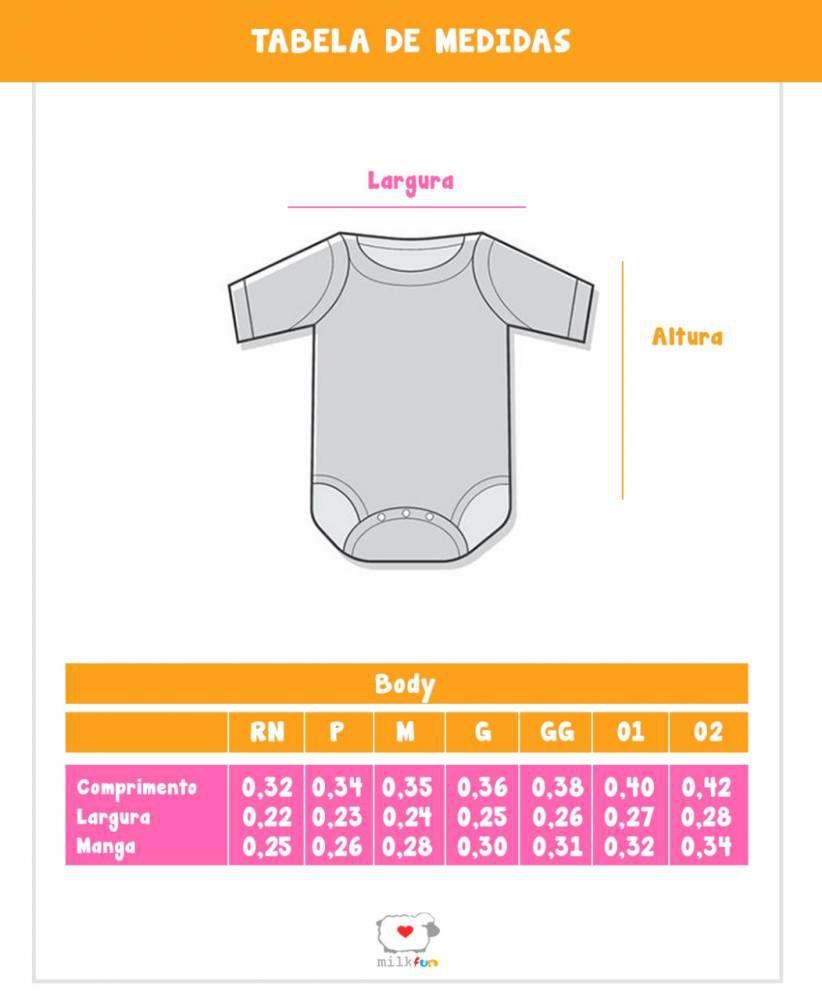 Body Bebê Infantil Nuvem