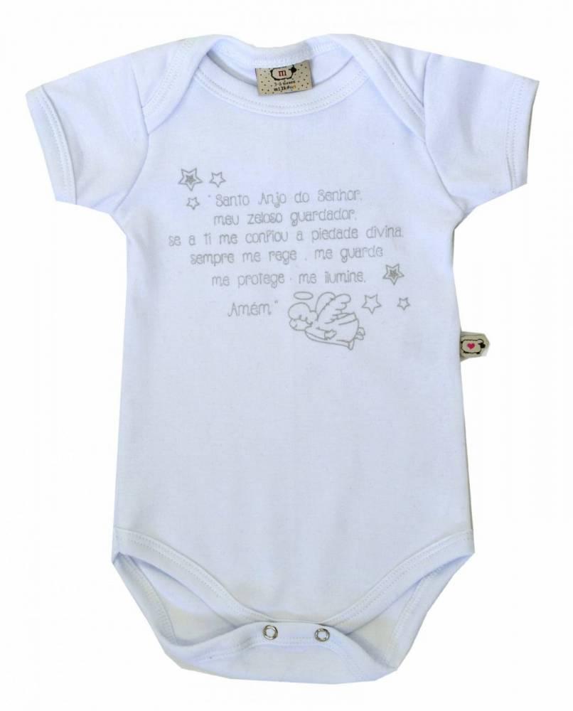 Body Bebê Infantil Santo Anjo