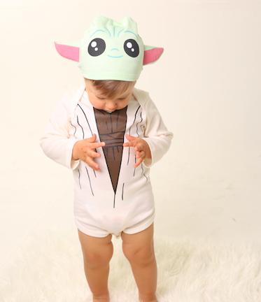 Body de bebê infantil baby Yoda personagens star wars