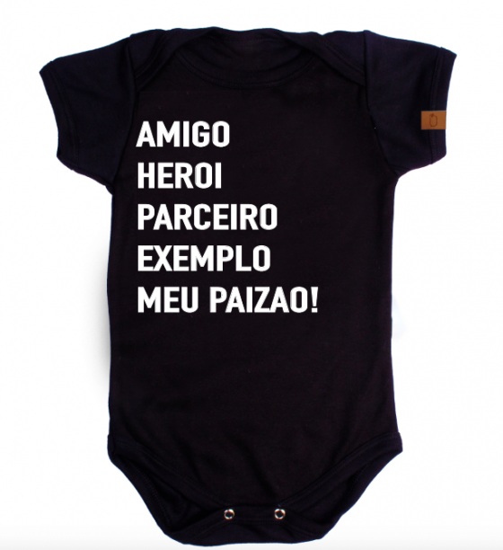 Body de bebê infantil dia dos pais heroi exemplo meu papai