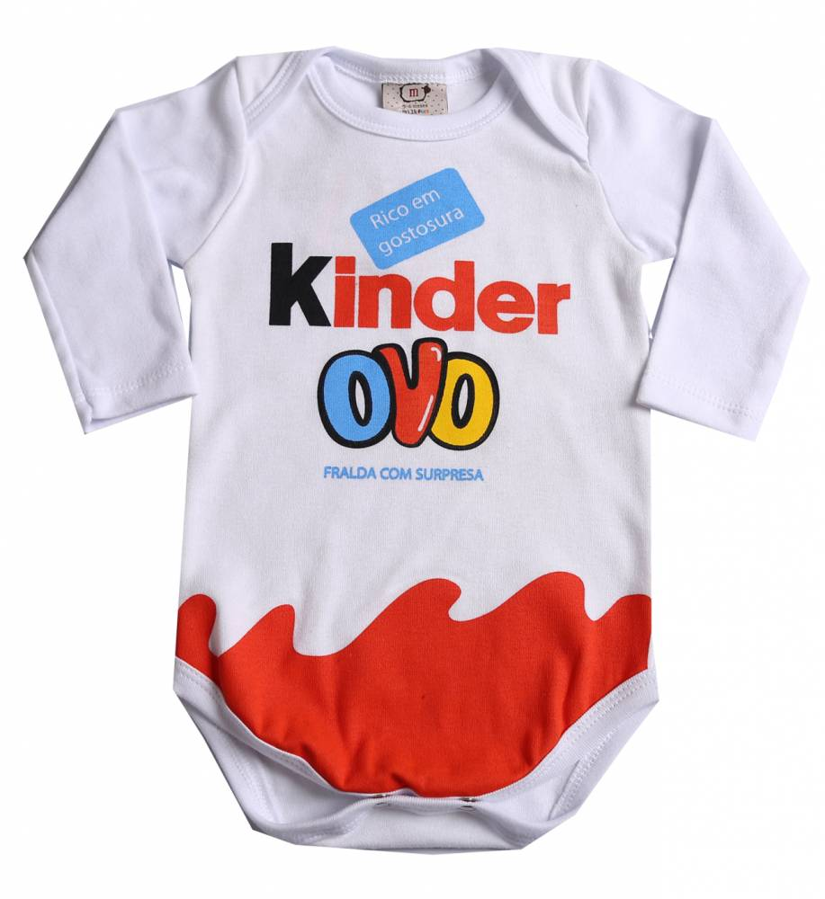 Body de bebê Kinder Ovo