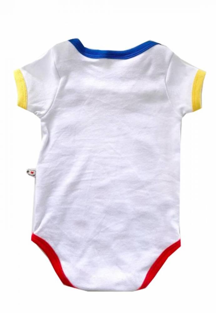Body de bebê Palhacinho com touca de pompom