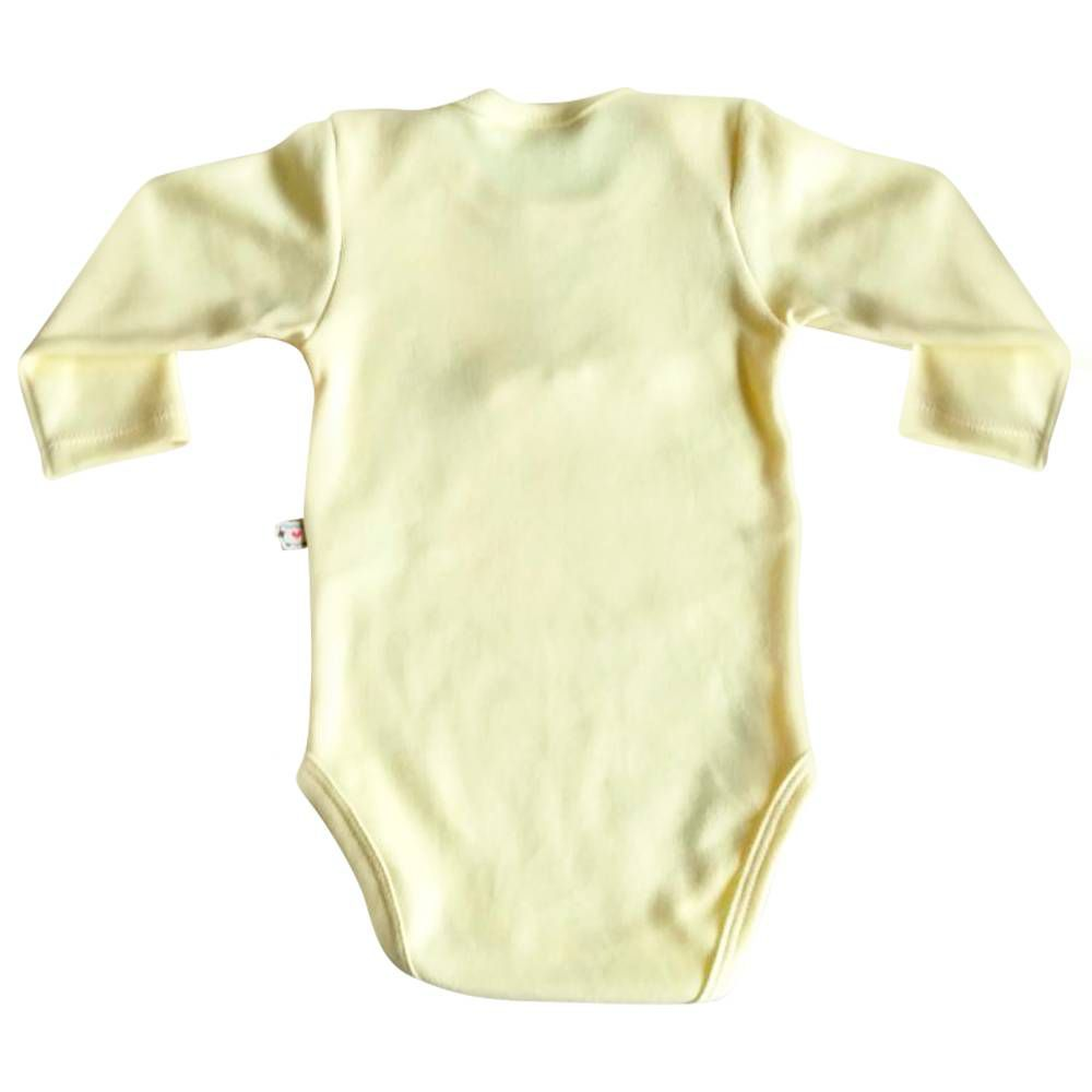 Body de Bebê Pequena Ajudante do Coelhinho com Laço amarelo