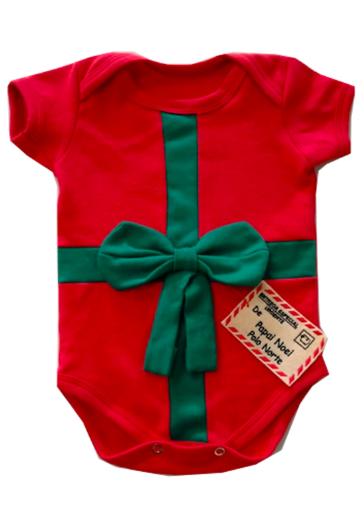 Body de Natal Melhor presente Laço  Milkfun