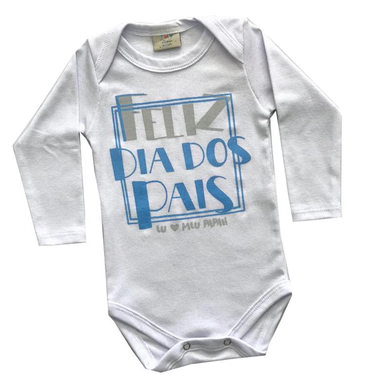 Body infantil Feliz dia dos pais Azul