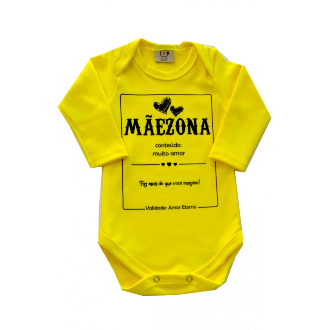 Body de bebê Infantil  Mamae Maezona