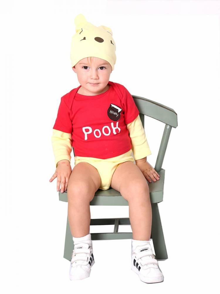 Body para bebê Ursinho Pooh