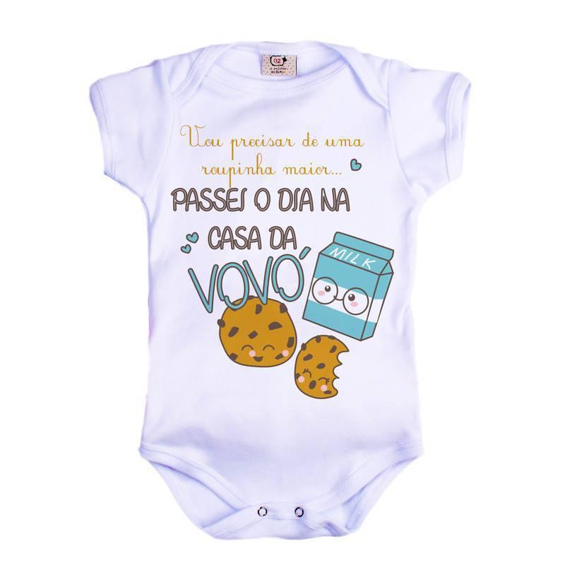 Body de bebê infantil casa da Vovó Biscoito