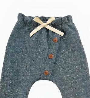 Calça de Bebê Saruel Moletom recorte transversal
