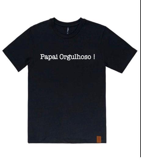 Camiseta dia dos pais pai e filho orgulho do papai