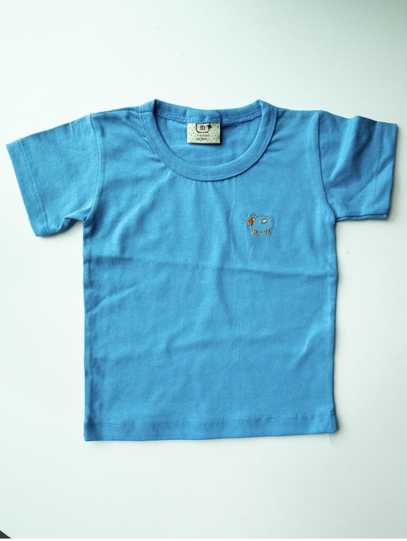 Camisetinha basic Milkfun Diversas cores Azul Ceu