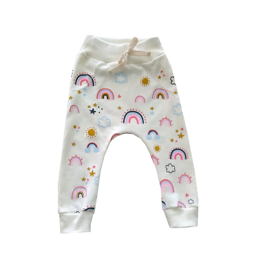 Conjunto de Bebê infantil Arco-Iris com aplique