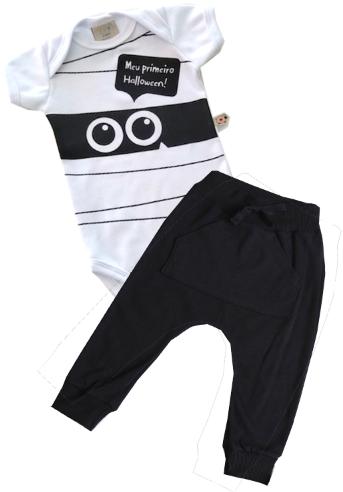 Conjunto Mumia Halloween com calça preta
