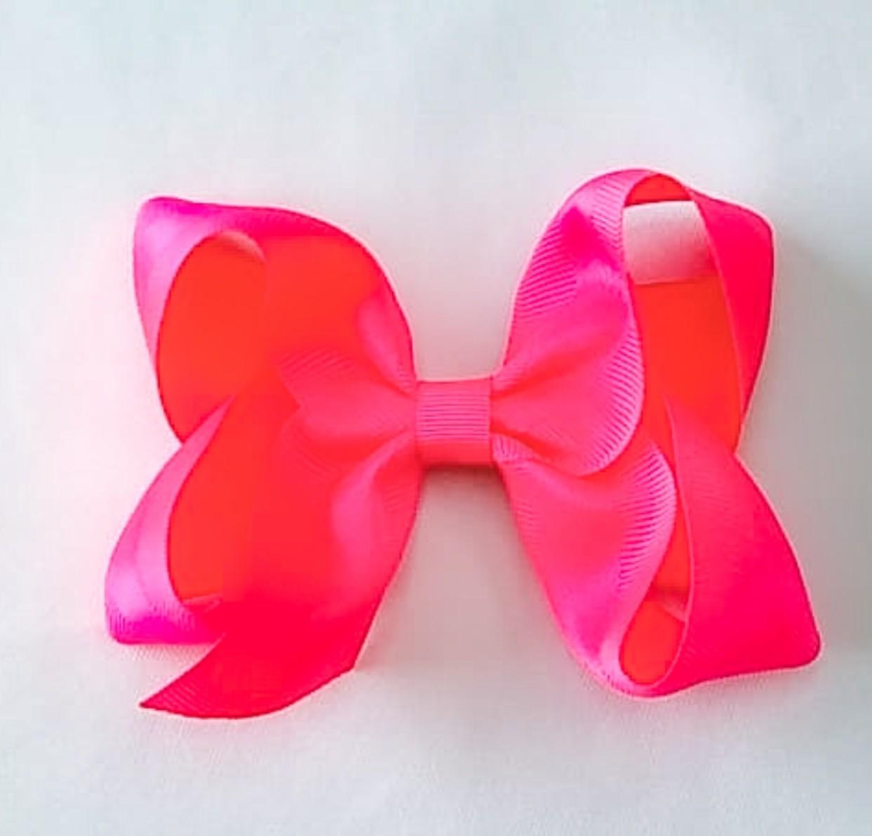 Laço de bebê rosa neon