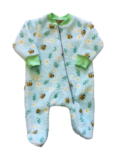 Macacão Bee  Soft Atoalhado  Verde Milkfun