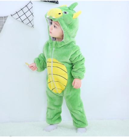 Macacão de bebe fantasia pelúcia Jacaré Milkfun