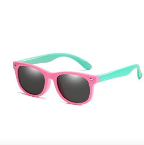 Oculos de Sol Infantil  bebê super Flexivel protecao solar . Rosa c/ verde