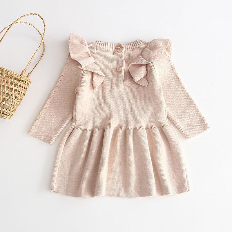 Vestido de bebê trico Nude / Bege Milkfun