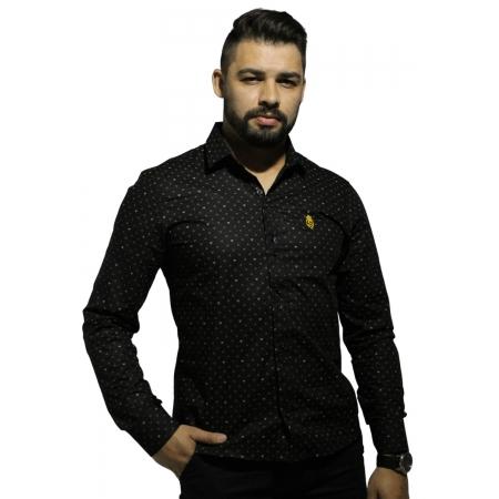 Camisa Servos Estampa Bicolor