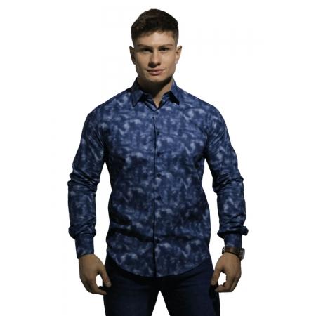 Camisa Servos Slim Confort Estampa Mescla