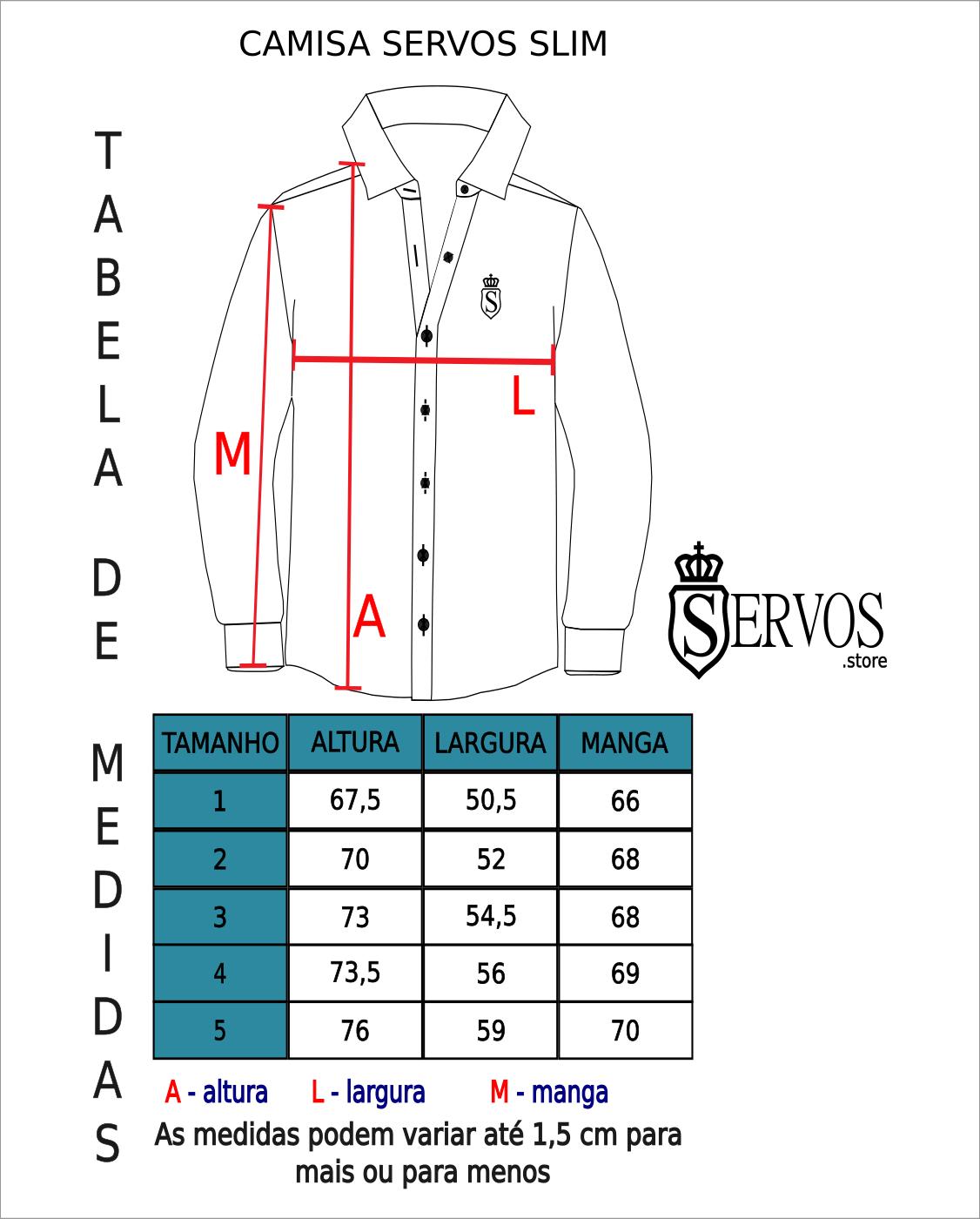 Camisa Servos Acetinada