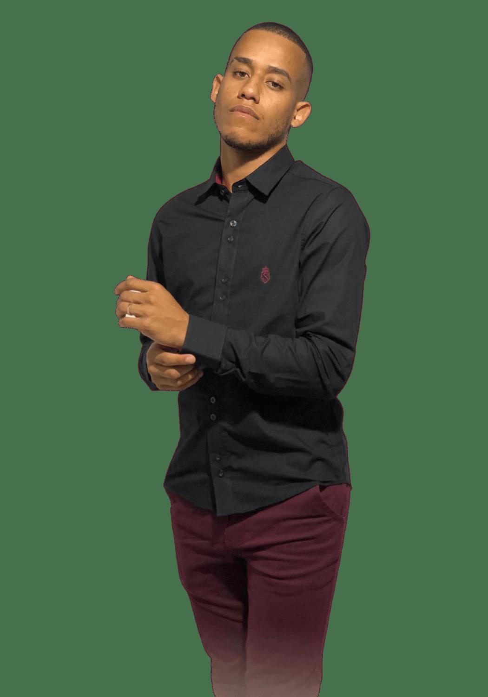 Camisa Servos Lisa com Elastano