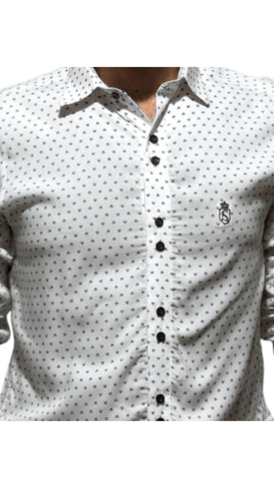 Camisa Servos Microestampa Coroa