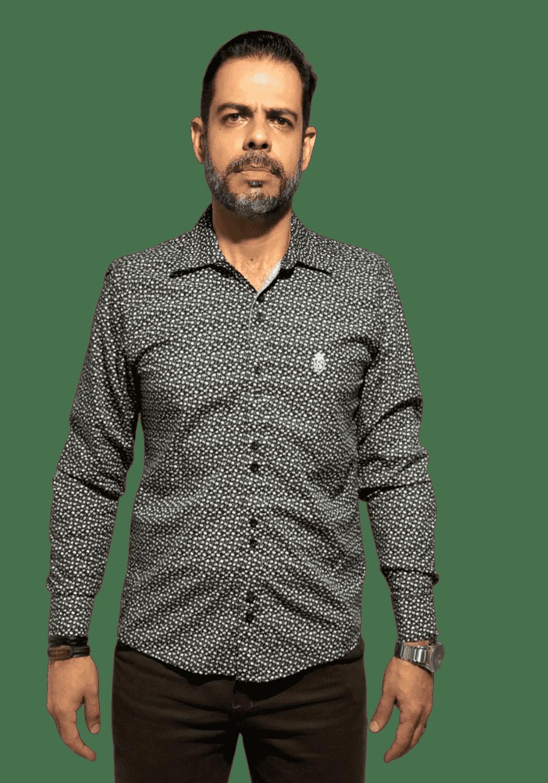 Camisa Servos Microestampa Flor