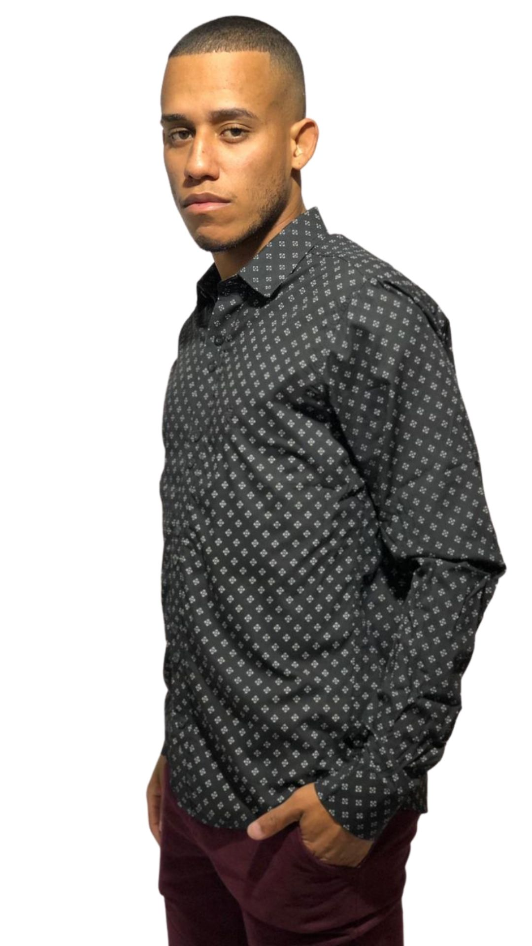 Camisa Servos Microestampa Quadros