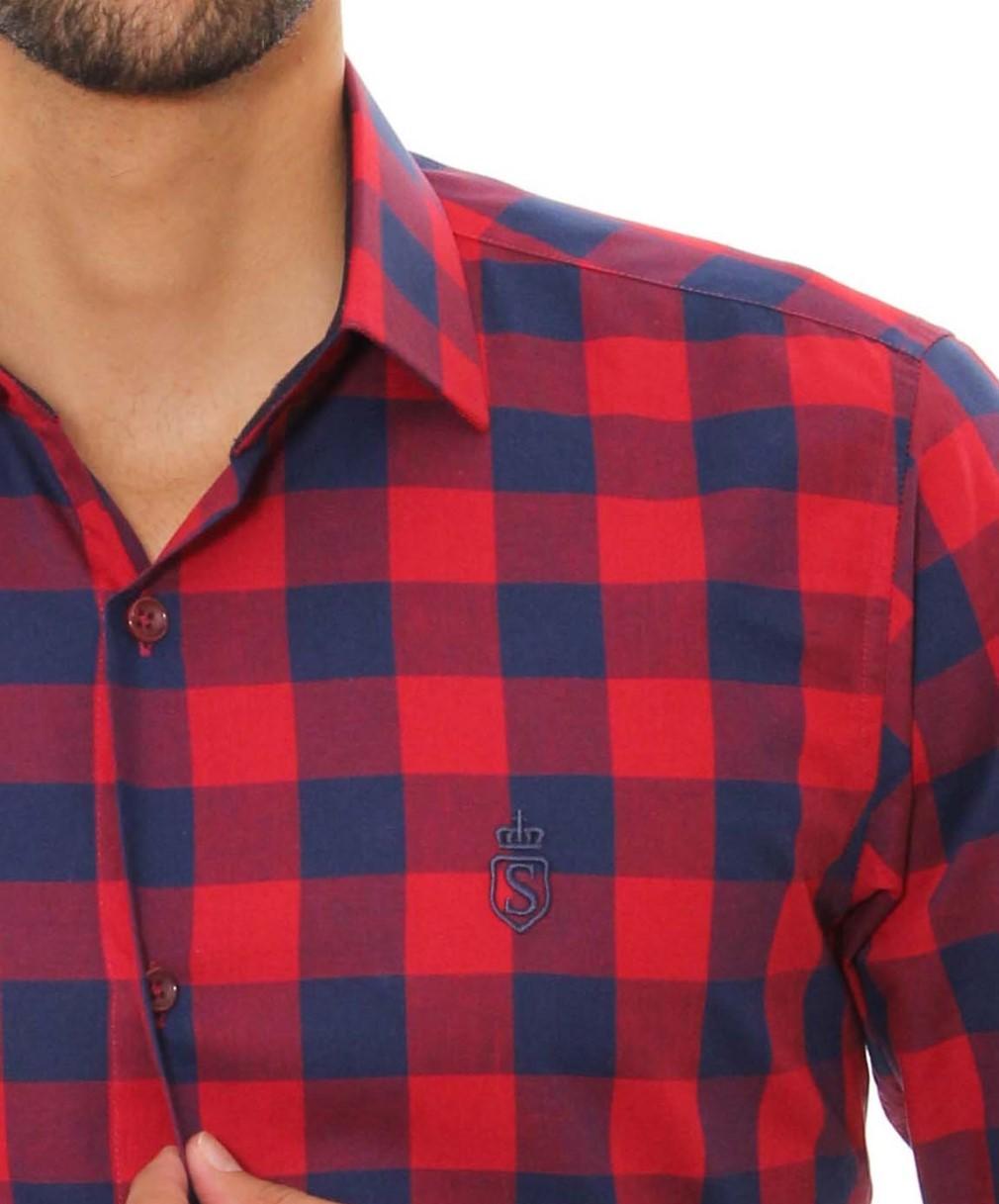 Camisa Servos Xadrez
