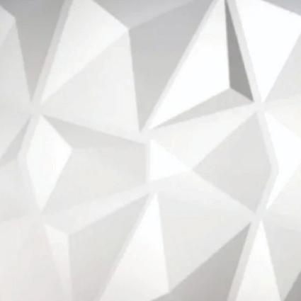 Kit 04 Placas 3D - Modelo Diamante - 50x50 ( Total de 1m2 )