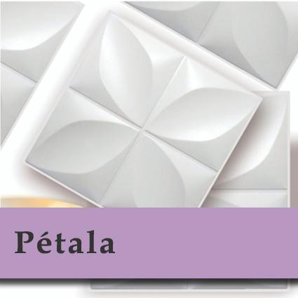 Kit 04 Placas 3D - Modelo Pétala - 50x50 ( Total de 1m2 )