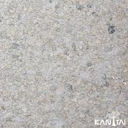 Papel de parede MICA  Pedra Prensada - Cinza Azulado / Nude com brilho - 3504