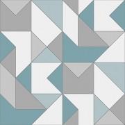 Papel de Parede Vinílico Contemporâneo Clássico Geométrico Azul REF- 4106