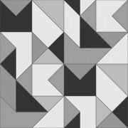 Papel de Parede Vinílico Contemporâneo Clássico Geométrico Preto e Cinza REF- 4109