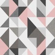Papel de Parede Vinílico Contemporâneo Geométrico Rosa REF- 4120