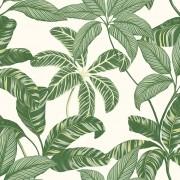 Papel de Parede Vinílico Contemporâneo Natural Folhagens Verde REF- 4100