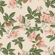 Papel de Parede Vinílico Contemporâneo Romântico Floral REF- 4112